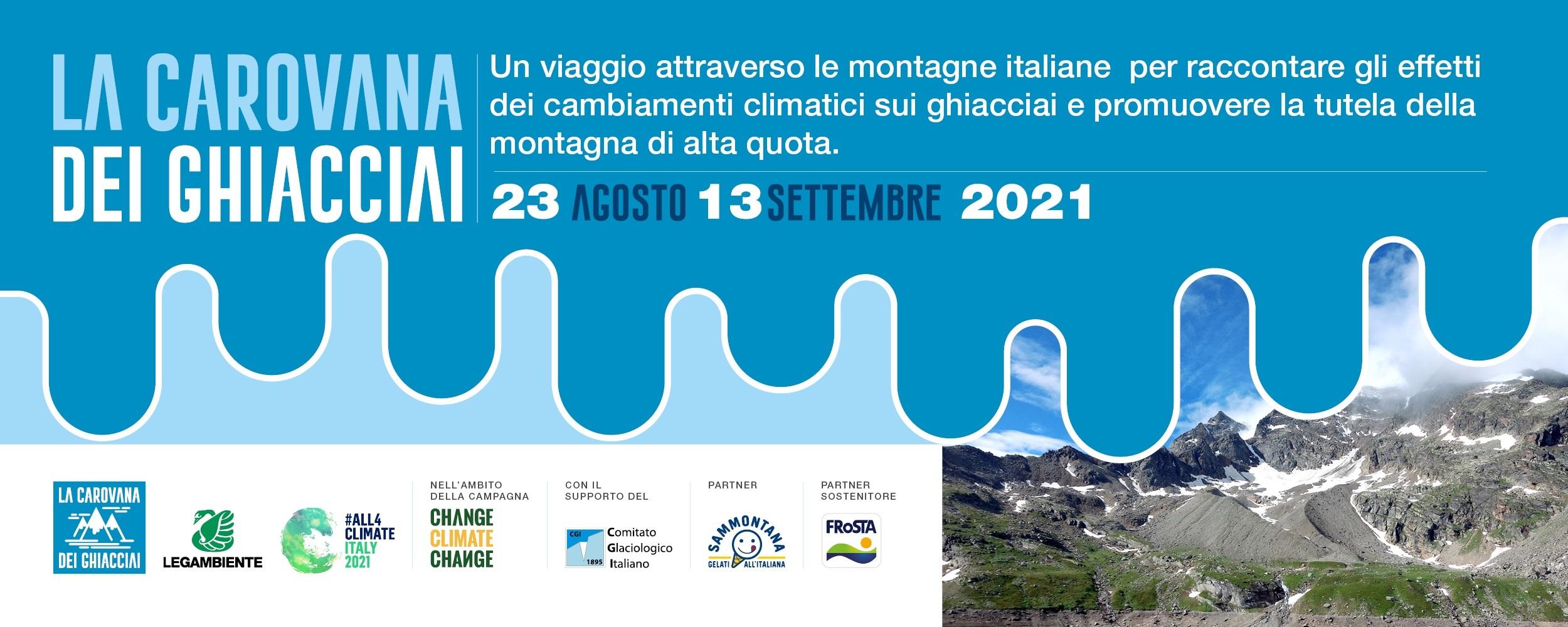 Carovana dei ghiacciai, per monitorare la salute dei ghiacciai italiani