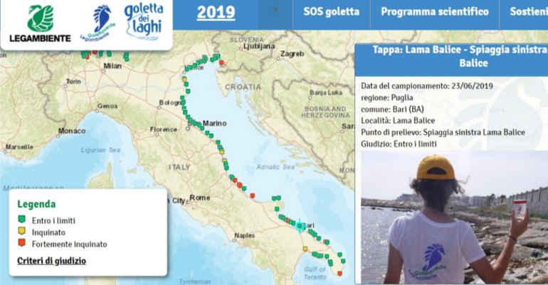 Cartina Puglia Gioia Del Colle.Goletta Verde Presenta I Risultati Del Monitoraggio In